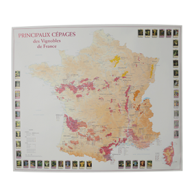 Carte des Cépages de France